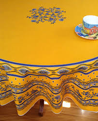 large round provencal tablelcloth with plastic coating 70in round french provencal tablecloth