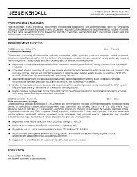 Procurement Specialist Resume Brilliant Ideas Of Procurement