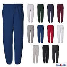 Details About Jerzees Mens 50 50 Nublend Fleece Sweatpants S 3xl 973mr No Pockets
