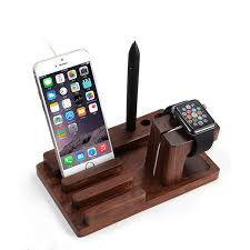 free bamboo design multifunction phone stand watches holder universal for car office desk home accessories