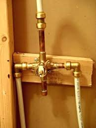 replace shower mixer install shower valve installing shower valve with awesome how to install bathtub faucet