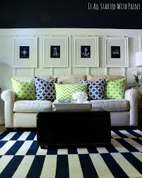 Blue And Green Decor Spring Decor Ideas In Navy And Yellow It All Started With Paint