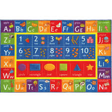 kc cubs multi color kids and children bedroom abc alphabet numbers and shapes educational learning