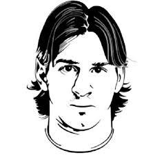Logo Messi Kleurplaat