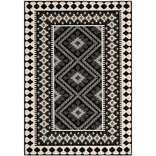 this review is from veranda black creme 7 ft x 10 ft indoor outdoor area rug