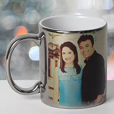 personalized ceramic silver mug gifts to coimbatore