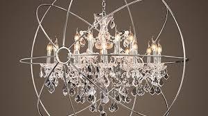 impressive unique crystal orb chandelier foucaults in
