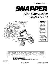 rider_ser16_e_18 old snapper riding mowers manual at Snapper Series 23 Wiring Diagram