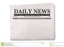 Extra Extra Newspaper Template Blank Daily Newspaper Stock Photo Image Of Background