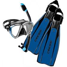 Cressi Pro Light Size Chart Cressi Pro Light Mask Snorkel Fin Package