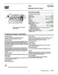 Cat C10 and C12 engine specs, manuals and bolt torques