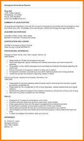 Emergency Nurse Resume Amazing 48 ER Nurse Resume Samples Business Opportunity Program