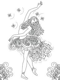 Princess Ballerina Coloring Pages Page Ballet Barbie Images