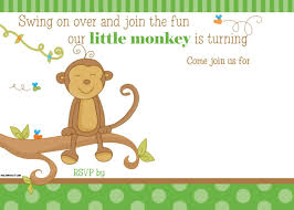 Boys Birthday Party Invitations Templates Free Printable Little Monkey Birthday Invitation Template