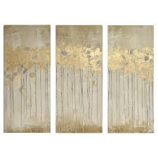 gel coat canvas with gold foil embellishment 3pc set on target wall art 3 piece with sandy forest gel coat canvas with gold foil embellishment 3 piece
