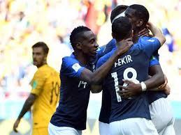 روسيا - فوز المنتخب الفرنسي على المنتخب الاسترالي في مباراة كأس العالم