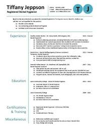Download Dental Hygiene Resumes. Dental Resume Examples Template