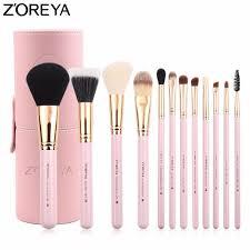 zoreya brands makeup brushes professional make up brush set with cylinder high quality 2017 cosmetics tool kit maquiage makeup brush sets makeup foundation
