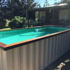diy above ground pool also container pool homemade diy steps for inside above ground pool