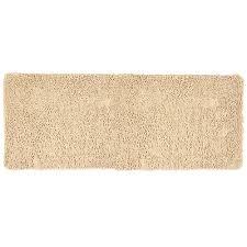 lavish home ivory 24 in x 60 in memory foam bath mat