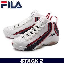 fila shoes. fila sneakers basketball shoes fila stack 2 jerry stackhouse white ( 1vb90065-127