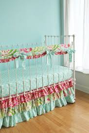 fascinating baby girl nursery room decoration using paisley baby girl bedding set daring image of