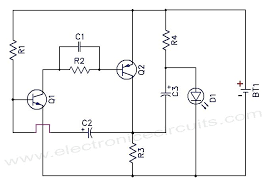 sensational one battery led light flasher circuit schematic led bulb circuit diagram pdf