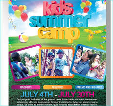 Kids Summer Camp Flyer Templete Party Flyer Templates For Clubs