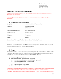 Get inspired by the more than +80 dynamic templates. Template For Supply Agreement Free Download