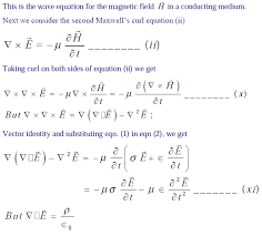 wave equations for a conducting um