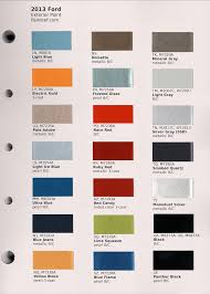2013 Ford Truck Color Chart 64 Curious Ford Blue Paint Chart