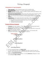 How To Write A Good Paragraph Esl Worksheet By Holzauge