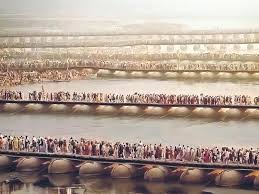 kumbh mela in the eternal pop up city books hindustan times the 18 pontoon bridges at the 2013 kumbh were the main access route to sangam