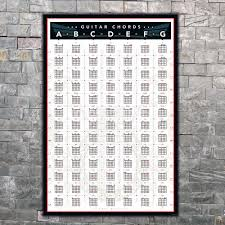 Us 2 07 Art Poster Guitar Chords Chart By Key Music Decoration Wall Print Modern Painting Home Deco 8x12 14x21 12x18 24x36 27x40 In Painting