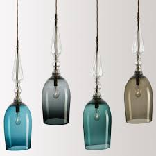 colored glass pendant lights. Blown Colored Glass Pendant Lights