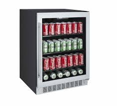 titan beer bottle fridge titan 142 can beverage cooler stainless canted view