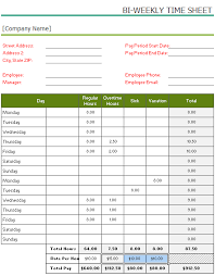 daily timesheet template free printable free printable bi weekly timesheet template for excel