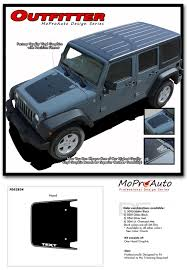 2015 Jeep Wrangler Color Chart 2016 Jeep Wrangler Outfitter Hood 3m Pro Vinyl Graphics