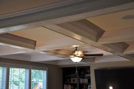 coffer lighting. Custom Made Coffered Ceiling Installation. By The Finishing Company | CustomMade.com Coffer Lighting