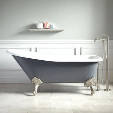 double slipper clawfoot tub tub dark gray 60 inch double slipper clawfoot tub
