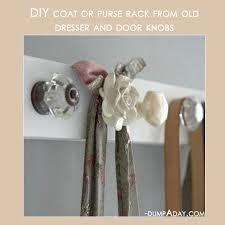 How To Make Coat Rack With Door Knobs Fascinating Amazing Easy DIY Home Decor Ideas Old Door Knob Coat Rack Dump A Day