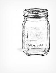 Drawn mason jar coloring page - Pencil and in color drawn mason ...