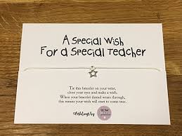 Thank You Teacher Quotes Personalised Wish Bracelet Inspirational Quote Teacher Thank you 15