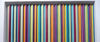 striped vertical blinds the stripes