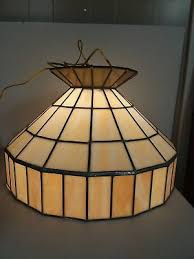vintage underwriters laboratories leaded stained glass hanging chandelier