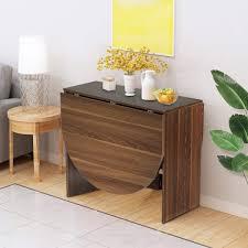 Costway Klapptisch Holz Esstisch Klappbar Küchentisch Holztisch Für Garten Esszimmer Küche Balkon Braun