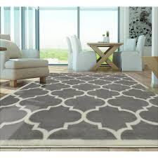 berrnour home contemporary moroccan trellis gray 8 ft x 10 ft area rug
