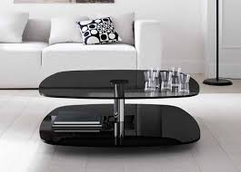 Modern black coffee table Oval Modern Black Glass Coffee Table Image And Description Coffee Tables Modern Black Glass Coffee Table Coffee Tables