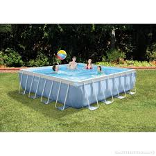 square above ground pool. Intex 14\u0027 X 42\ Square Above Ground Pool A