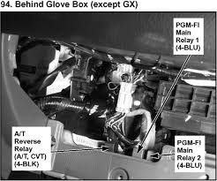 honda civic 05 main relay, and fuel pump relay location and wiring 1995 honda civic fuel pump wiring diagram at Wiring Diagram For 94 Honda Civic Fuel Pump